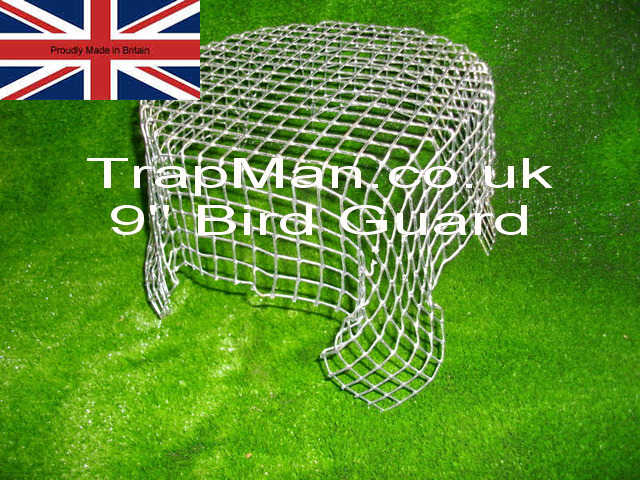 Wire mesh Balloon, prevents birds, rats, squirrels or leaves from getting inside your chimney.Quick & easy to fit. Pushes easily into flue pipe and self adjusts to fit