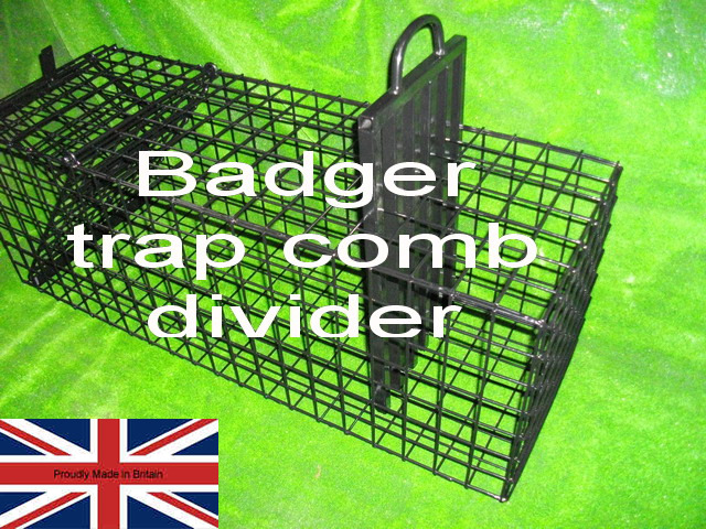 badger trap comb divider used for containment