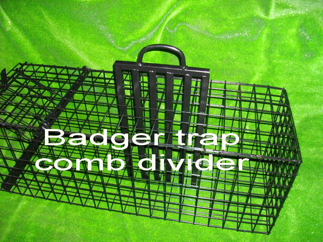 badger trap cage divider used as restraint