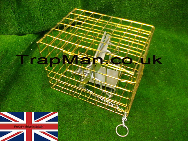 fen trap cage showing trap placement