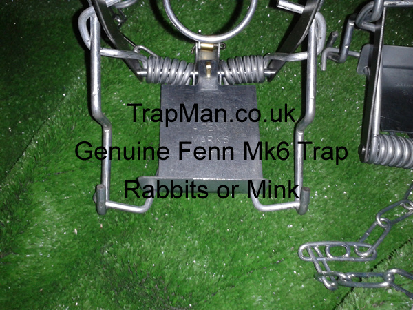 Genuine Mk 6 Fenn traps, it is a legal requirement in England Wales & Scotland that these Mk 6 Fenn kill traps must be set in a tunnel either natural or artificial and checked at least once every 24hrs, ideally more often.�