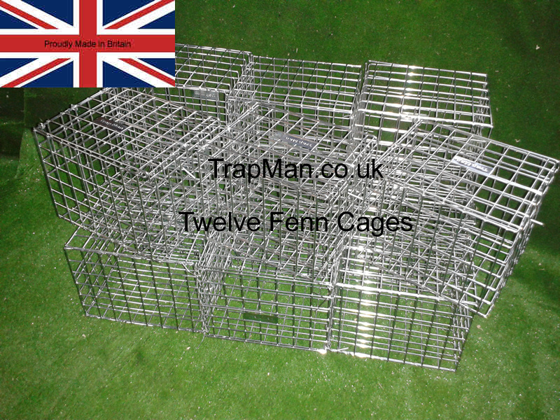 twelve fenn trap protection cages