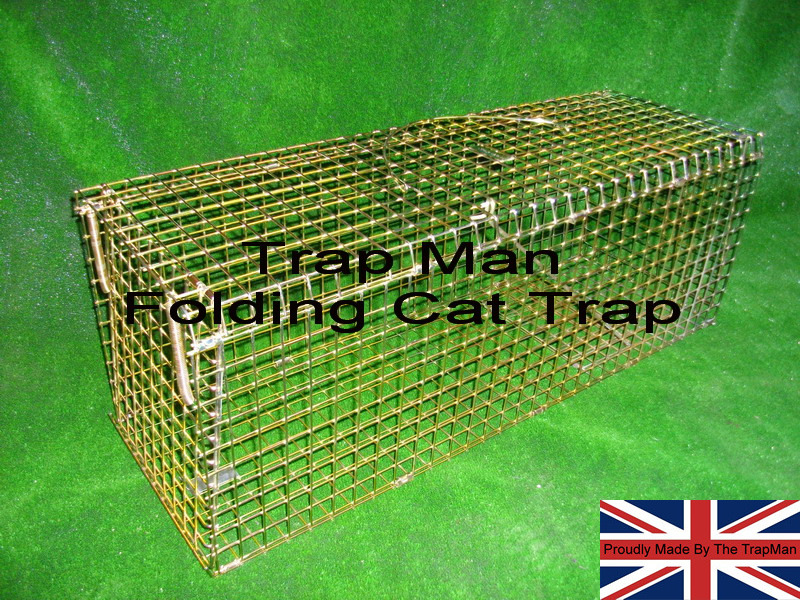Folding cat trap, feral cat trap folding model, quick to set up, strong and effective cat trap