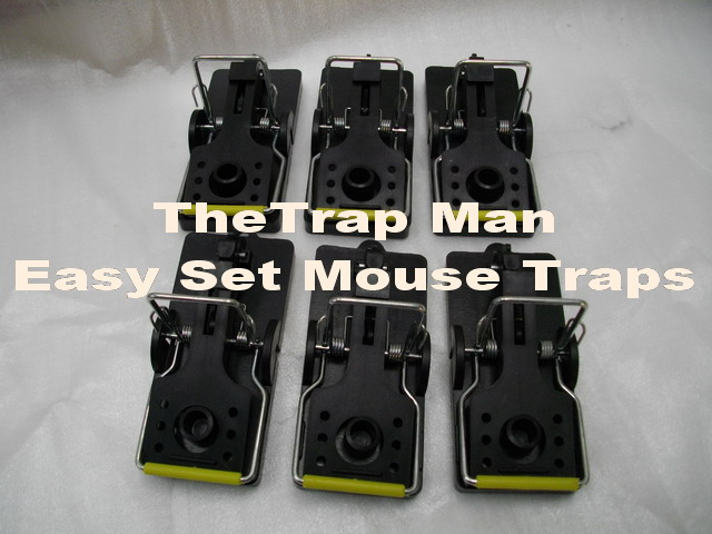 Mouse trap, plastic easyset mouse trap, kill type mouse traps