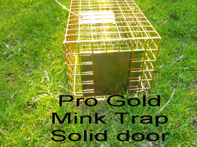 pro gold mink trap showing solid door