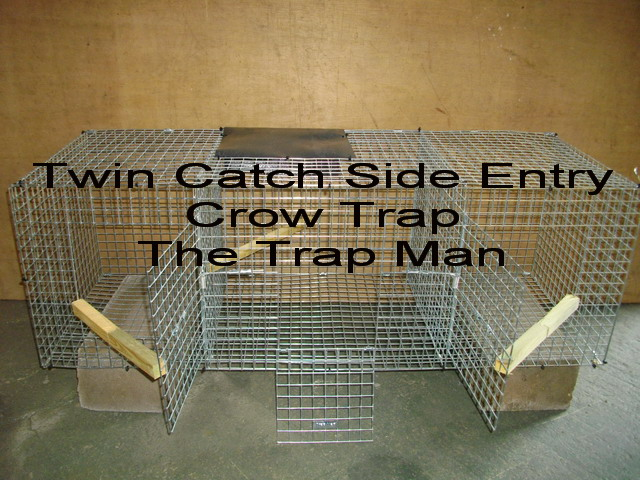 twin catch side entry crow trap