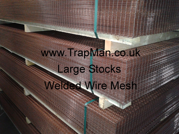 "Large stocks of 1""x1""x12g self colour welded wire mesh in stock at cheap prices."