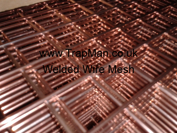 Here at The TrapMan we can have your welded wire mesh zinc plated or galvanised