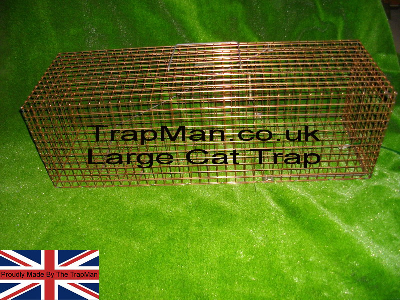 "Much longer, taller, wider, heavier than our standard cat trap our Large cat trap 36""x12""x11"" ideal for large tom cats. These feral cat traps are made in UK by ourselves in our own workshop, next day delivery available"