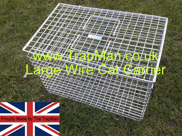 These carriers are top loading, the cat is lowered into the basket, much eaisier than the open end type,. The mesh sides have the advantage of being incredably strong but still allow the cat full vision of its surrondings.