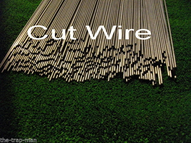 "Straightened wire mild steel bar 4mm dia 450mm long steel rod by The TrapMan Straightened wire mild steel bar 4mm diameter x 450mm (18"") long in bundles of 10"