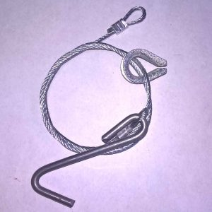 Replacement Fox trap cable & hook replacement cable fox chewed cables