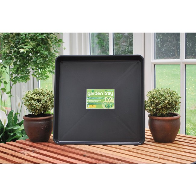 Large square plastic drip tray, welly store, sump oil drainer, hydroponics, gravel tray, water tight, water reservoir, irrigation tray, plant pot tray, loads of other uses.