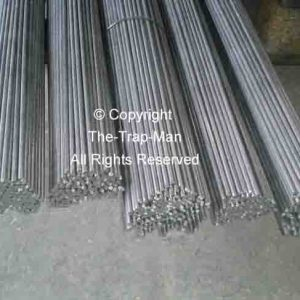 "Steel bar 4mm dia 1mt long steel rod Straightened wire by The TrapMan Straightened wire mild steel bar 4mm diameter x 1mt (39"") long in bundles of 10"