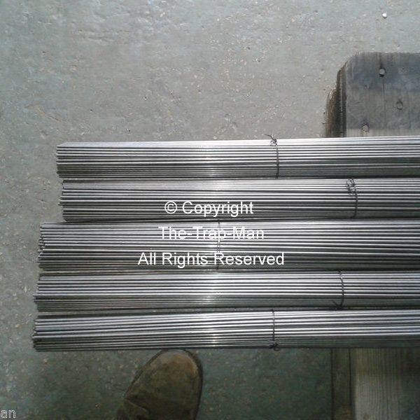 "Steel bar 4mm dia 1mt long steel rod Straightened wire by The TrapMan  Straightened wire mild steel bar 4mm diameter x 1mt (39"") long in bundles of 10"
