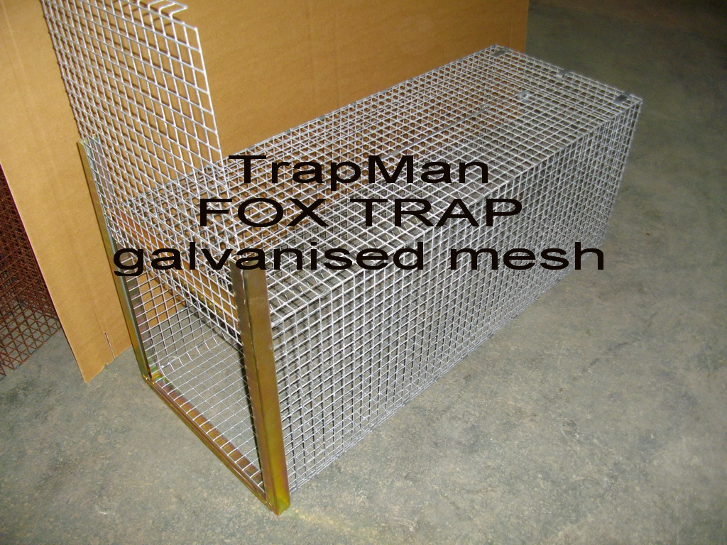 Fox trap / Small Dog trap, galvanised mesh construction with a ...
